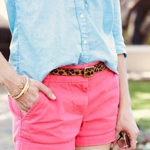 J. Crew Pink City Fit Chino Shorts Size 4